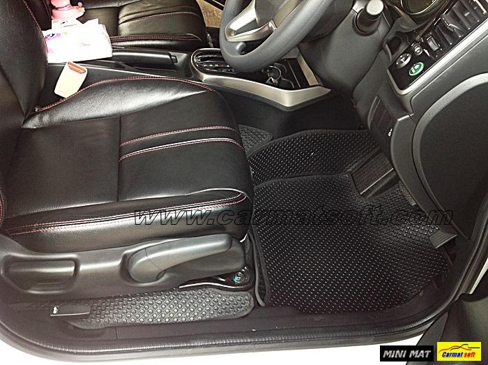 พรมปูพื้นรถยนต์ ALL NEW CITY 2014 แบบพรมกระดุมเม็ดเล็ก เต็มคัน PVC 100%