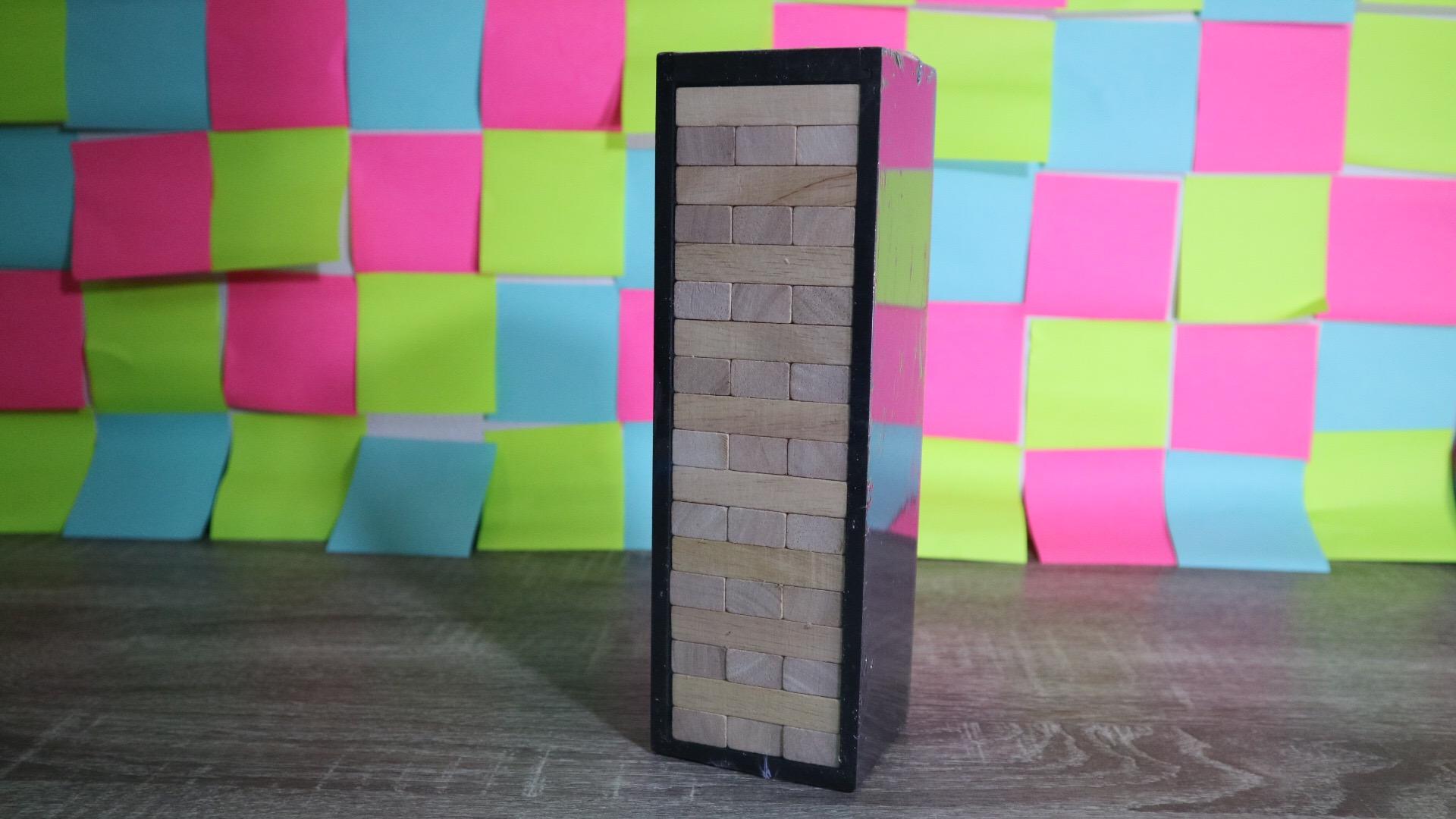 เกมตึกถล่มไม้ยางพาราขนาดใหญ่สูง 24 cm. (Rubber Wood Jenga M)