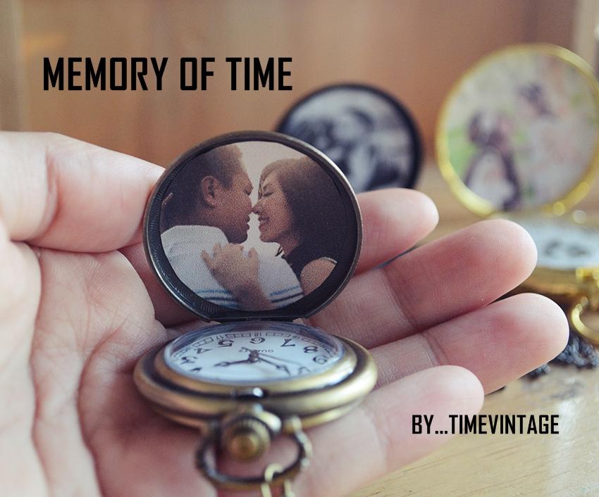 นาฬิกาล็อคเก็ตภาพถ่ายใส่รูป