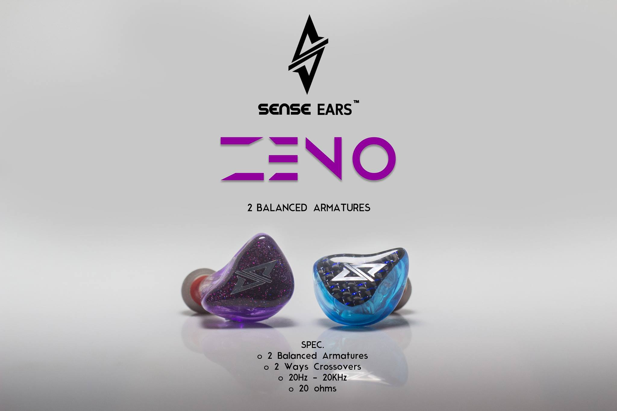 หูฟัง Sense Ears ZENO (ciem 2 Balanced Armature)