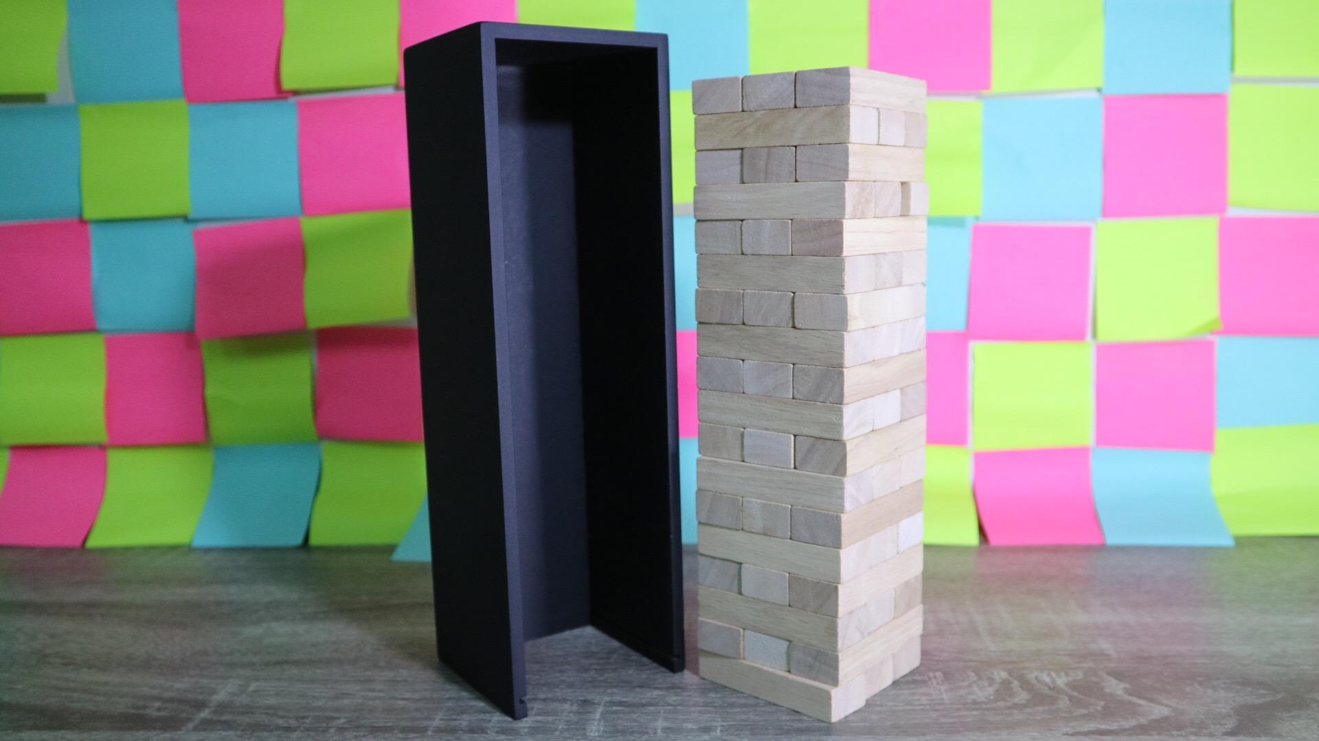 เกมตึกถล่มไม้ยางพาราขนาดใหญ่สูง 28 cm. (Rubber Wood Jenga L)