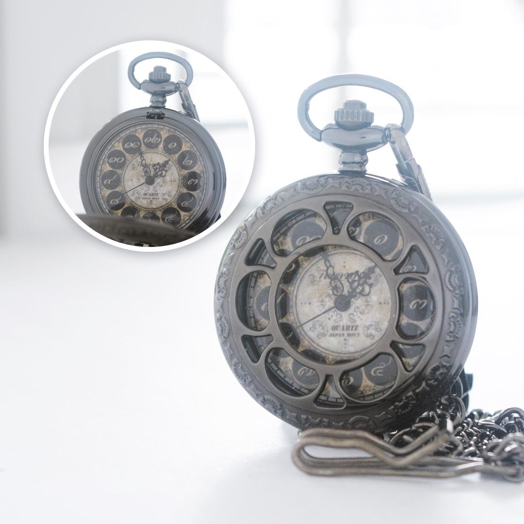 นาฬิกาถวายพระตลับฝาฉลุลายสีดำเงาพื้นหน้าปัดทองเลขไทย ระบบถ่านควอทซ์ญี่ปุ่น บรรจุกล่องผ้าไหม (พร้อมส่ง)