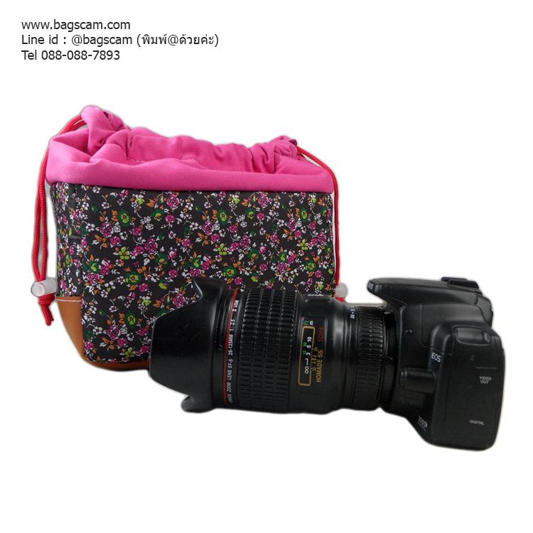 Camera insert ไส้ในใส่กล้องกันกระแทก ลายดอกไม้