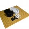 ชุดกระดานหมากล้อมไม้บางพร้อมเม็ดหมากพลาสติกเม็ดนูนสองด้านแบบญี่ปุ่น