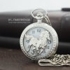 นาฬิกาของขวัญมงคลลายฉลุม้ามงคลสีเงินระบบถ่านควอทซ์ญี่ปุ่น