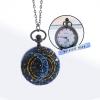 """นาฬิกาสร้อยคอ ขนาดกลาง ลาย """"ดวงจันทร์""""สไตล์ Hipster ระบบถ่านควอทซ์ญี่ปุ่น (สั่งทำ)"""