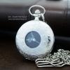 นาฬิกาพก สีเงิน Silver ลายโรมันเถาวัลย์แบบควอทซ์ หน้าปัดเลขโรมัน (พร้อมส่ง)