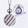 ล็อคเก็ตนาฬิกาสร้อยคอ ใส่รูปได้ ลาย ม่วงฮาร์ทพาเทล ระบบถ่านควอทซ์ญี่ปุ่น (สั่งทำ)