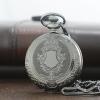 นาฬิกาพกพรีเมียมสีดำเงาด่างขนาดกลาง ลายคลาสสิคยุโรประบบถ่านควอทซ์ญี่ปุ่น