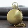 นาฬิกาพกทองแดง พื้นผิวเรียบหน้า-หลัง รูปทรงไข่ ระบบกลไกไขลาน