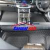 พรมปูพื้นรถยนต์ NEW ACCORD 2013 ลายกระดุม สีดำ 13 ชิ้น เต็มคัน เข้ารูป 100%