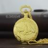 นาฬิกาของขวัญพรีเมียม นาฬิกาพกลายม้ามงคลตัวเรือนสีทองระบบถ่านควอทซ์