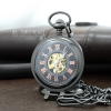 นาฬิกาพรีเมียมแบบพับตั้งและพกพาได้ตัวเรือนสีดำ ระบบกลไกไขลาน