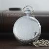 นาฬิกาพรีเมียม แบบพกพาสีเงิน ระบบถ่านควอทซ์พร้อมฟังชั่นวันที่ (1-31)