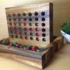 เกมเรียงสี่แถวแบบไม้ขนาดพกพา (15 x18x 2.5cm.)