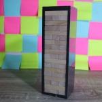 เกมตึกถล่มไม้ยางพาราขนาดกลางสูง 24 cm. (Rubber Wood Jenga M)