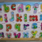 ชุดกระดานจิ๊กซอเรียนรู้ตัวอักษรภาษาอังกฤษ (No.DX590)