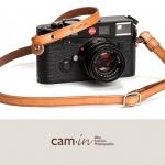 สายคล้องกล้องcam-in หนังแท้