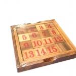 เกมเรียงตัวเลขไม้แบบ1-15 (12.5x12.5x1.7cm.)