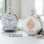 นาฬิกาสีเงินของที่ระลึกงานเกษียณ แบบของที่ระลึกพรีเมี่ยมความหมายดี เรียบหรู