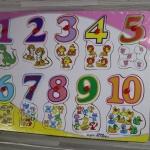 ชุดกระดานจิ๊กซอเรียนรู้ตัวเลข