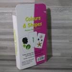 แฟลชการ์ดคำศัพท์คำศัพท์เกี่ยวกับสีและรูปทรง