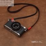 สายคล้องกล้อง หนังแท้ CAM2831 สีดำด้วยแดง