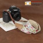 สายคล้องกล้อง คุณภาพดี ลายดอกไม้ CS234