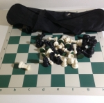ชุดกระเป๋าพร้อมตัวหมากรุกสากลและกระดานผ้ายาง