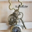 พวงกุญแจนาฬิกาโลหะสไตล์วินเทจสีทองเหลือง ลาย Vintage Bird Garden