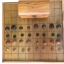ชุดกระดานลิ้นชักไม้สักเกรดบีพร้อมตัวหมากไม้สักและกล่อง thumbnail 3