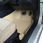 พรมปูพื้นรถยนต์ 5D รุ่น ALTIS 2008-13   PVC Leather สีครีม
