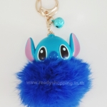 พวงกุญแจ Stitch Pom Pom ห้อยกระเป๋า (Stitch Pom Pom Keychain)