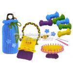DIY ถักไหมพรม ชุดทำกระเป๋า พร้อมคู่มือภาษาไทย 4 สี