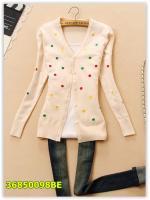 พรีออเดอร์ เสื้อไหมพรม/เสื้อกันหนาว/เสื้อแขนยาว สีครีม