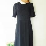เดรสวินเทจซีทรูดอกไม้สีดำ Black Flower See Through Vintage Dress