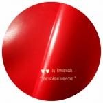 LH25 : หนังเทียมสีแดงสดผิวหน้าลื่น แบ่งขาย 1 หน่วย = ขนาด1/4 หลา : 45X 65 cm