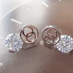 ต่างหู Chanel Silver Diamond
