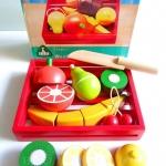 รหัสสินค้า 179 Fruit Slice and see - หั่นผลไม้ มีเลม่อน ส้ม ผลกีวี กล้วย เชอรี่ ฝรั่ง