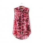 [Preorder] เสื้อเชิ๊ตชีฟองแฟชั่นแขนกุด ลายเสือดาวสีชมพู (ไซส์ S M L) Leopard print Sleeveless blouse sleeveless leopard print chiffon shirt