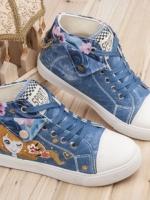[Pre-order] รองเท้าผ้าใบเพ้นมือ ลายการ์ตูนญีปุ่น