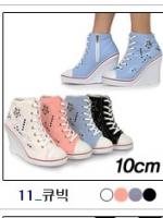 [PRE-ODER] รองเท้าผ้าใบส้นสูง 10CM [Made in Korea]
