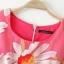 [Preorder] เดรสแฟชั่นแขนกุด ลายดอกไม้บานพร้อมเข็มขัด สีชมพู (ไซส์ S M L) 2014 summer new European style sunflower sunflowers print short-sleeved dress organza skirt thumbnail 3