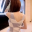 เดรสแฟชั่นเข้ารูปเสื้อแขนกุดคอวีผ้านิตติ้ง(ไหมพรม)เนื้อดีลายตาราง มี 2 สี ดำ+ขาว / เทา+ขาว thumbnail 20