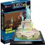 จิ๊กซอ 3 มิติ เทพีเสรีภาพแบบเปล่งแสง(LED Statue Of liberty)(No.L505h)