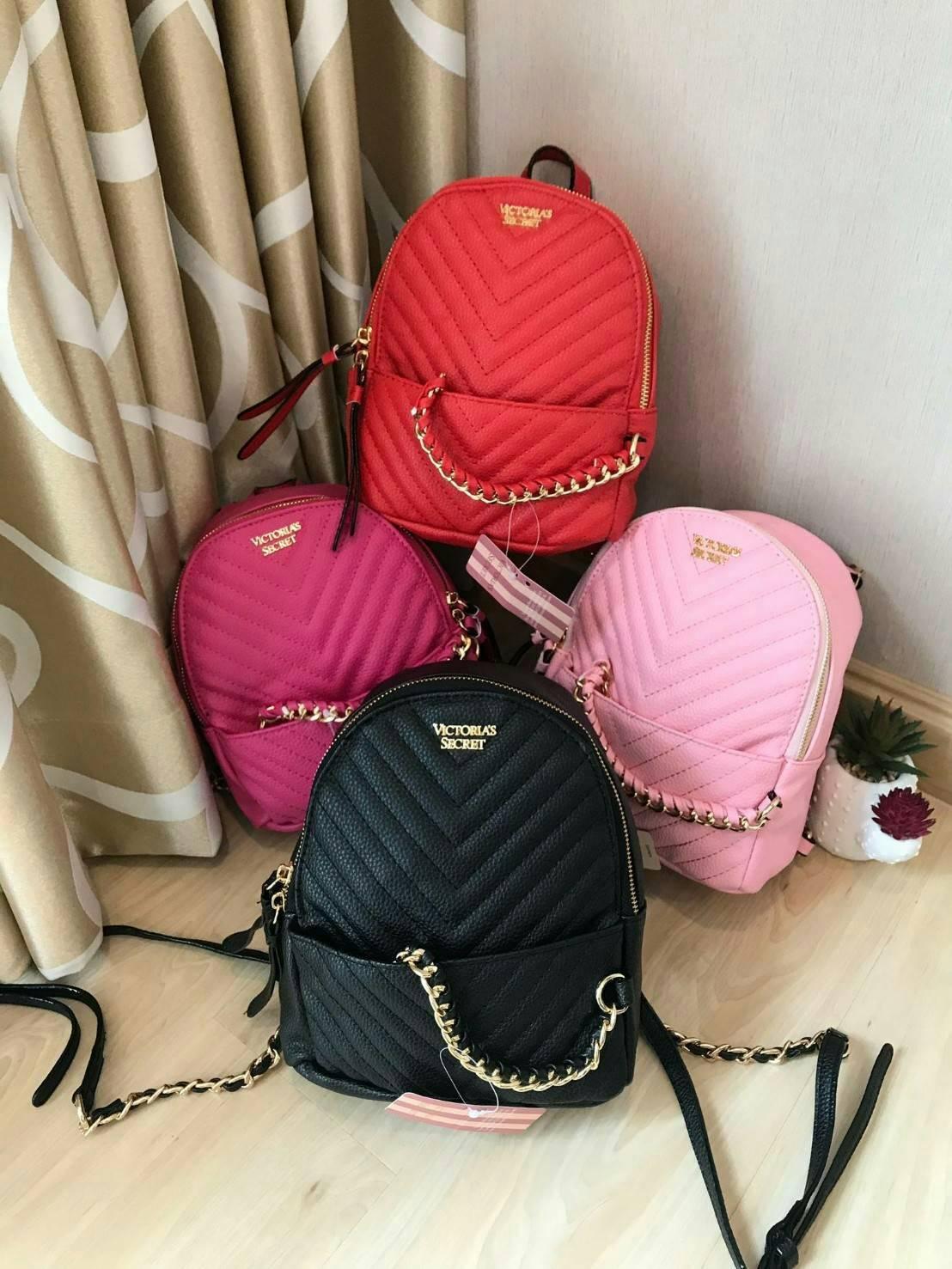 13370c1cc1a44 Victoria's Secret Pebbled V-Quilt Small City Backpack กระเป๋าเป้ ...